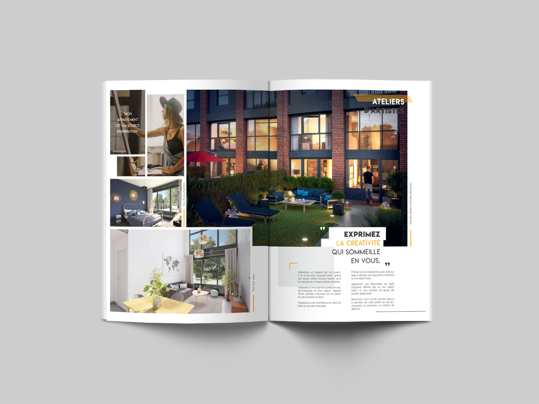 Design D Espace Toulouse real estate brochure - marie lepoetre